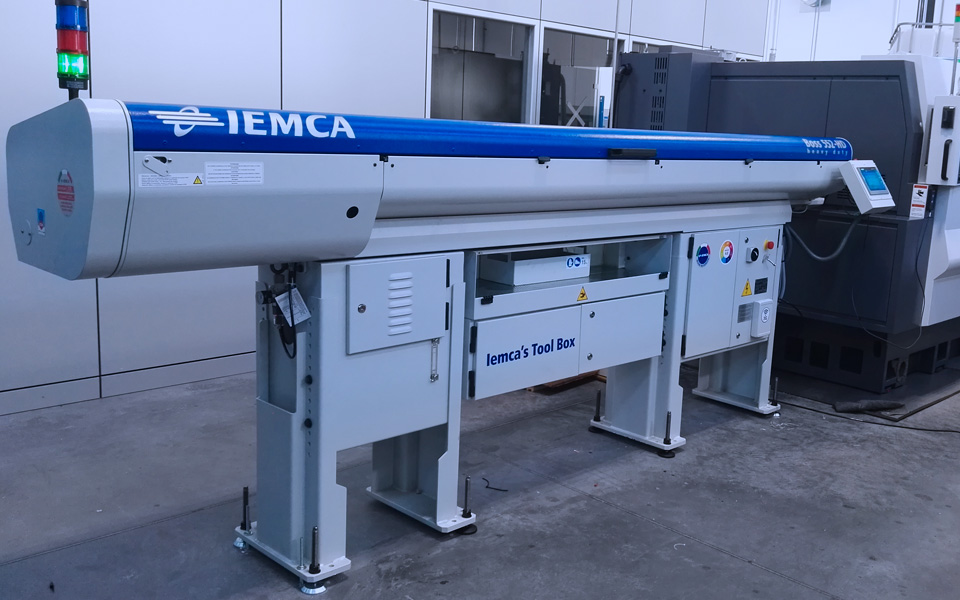 automatic bar feeder for lathe with iemca industry 4.0 kit